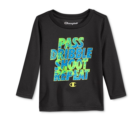 59670d38c Shop CHAMPION Champion Baby Boys Long-Sleeve Graphic, Black for ...