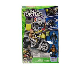 Mega Bloks Ninja Turtles Moto Attack Playset, Green/Black