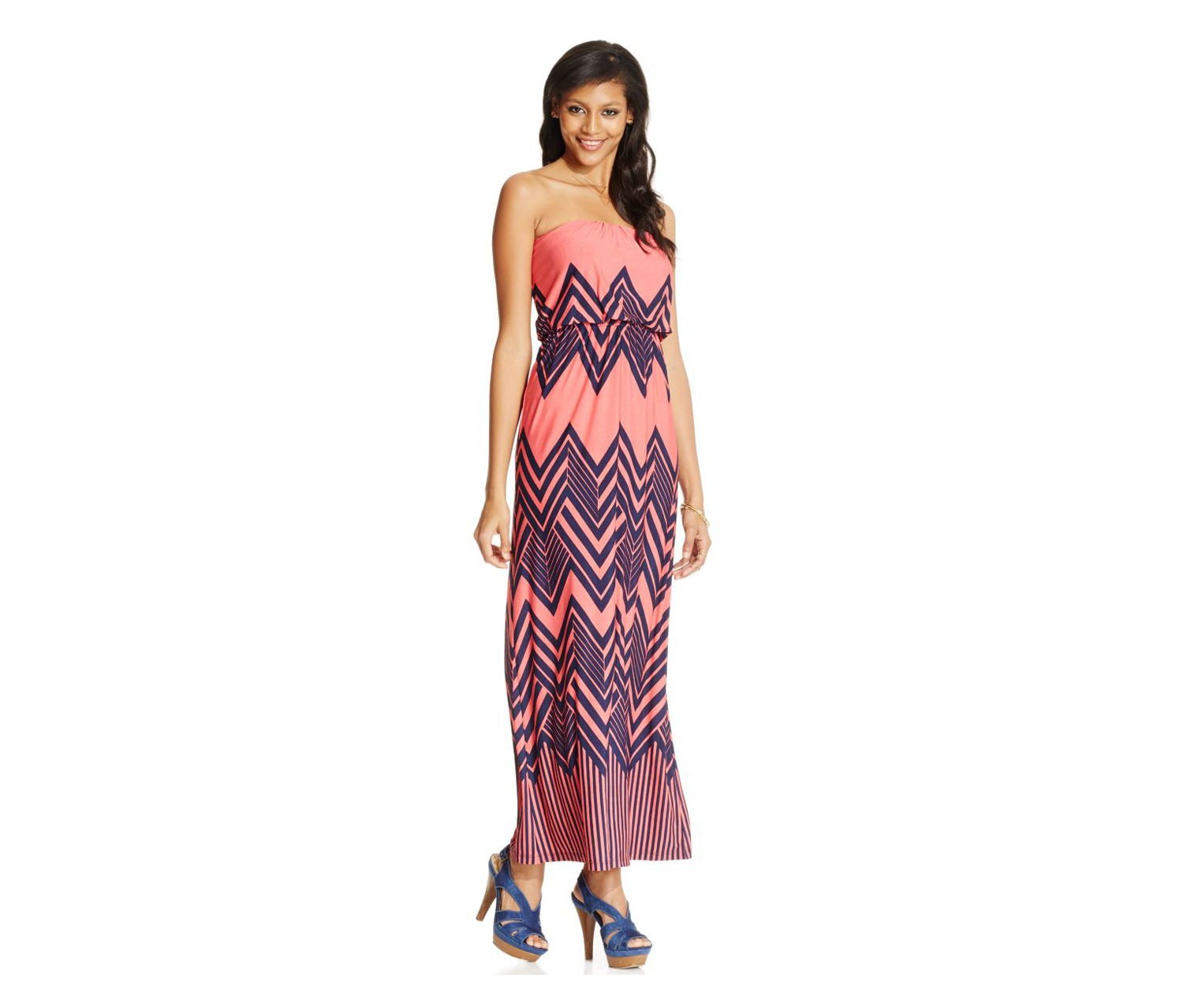 00e72262b94 Shop Trixxi Trixxi Juniors Strapless Printed Maxi Dress