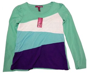 Epic Threads Girls Long Sleeved Shirt Mint Green Multi- Colored