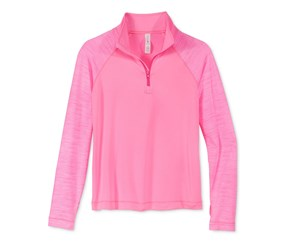 Ideology Big Girls  Half-Zip Pullover,  Pinkhustle