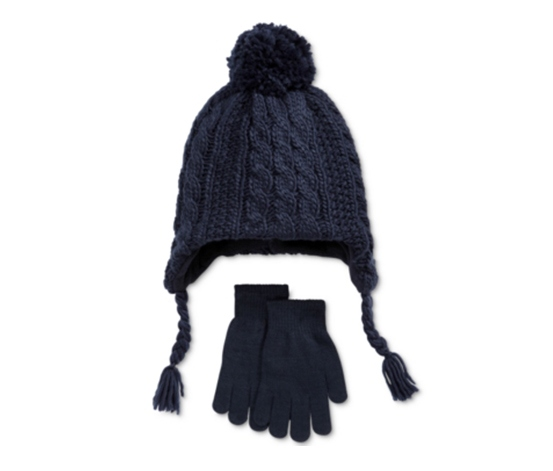 ecc0b13178f Berkshire Boys  2-Pc. Cable-Knit Pom-Pom Hat   Gloves Set