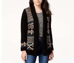 Hippie Rose Juniors' Shawl-Collar Cardigan Sweater