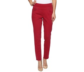 JAG Amelia Cropped Skinny Pull-On Pants, Winterberry