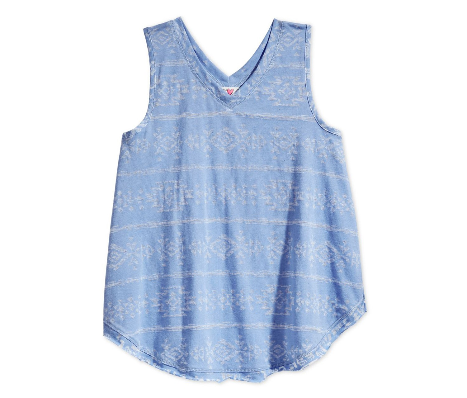 Kandy Kiss Girls Blue Graphic-Print Swing Tank Chambray