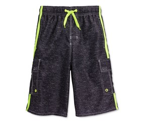 Laguna Boys Locked-In Board Shorts, Black Heat