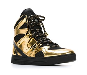 Women Tech Ninja' High Top Sneaker, Black/Gold