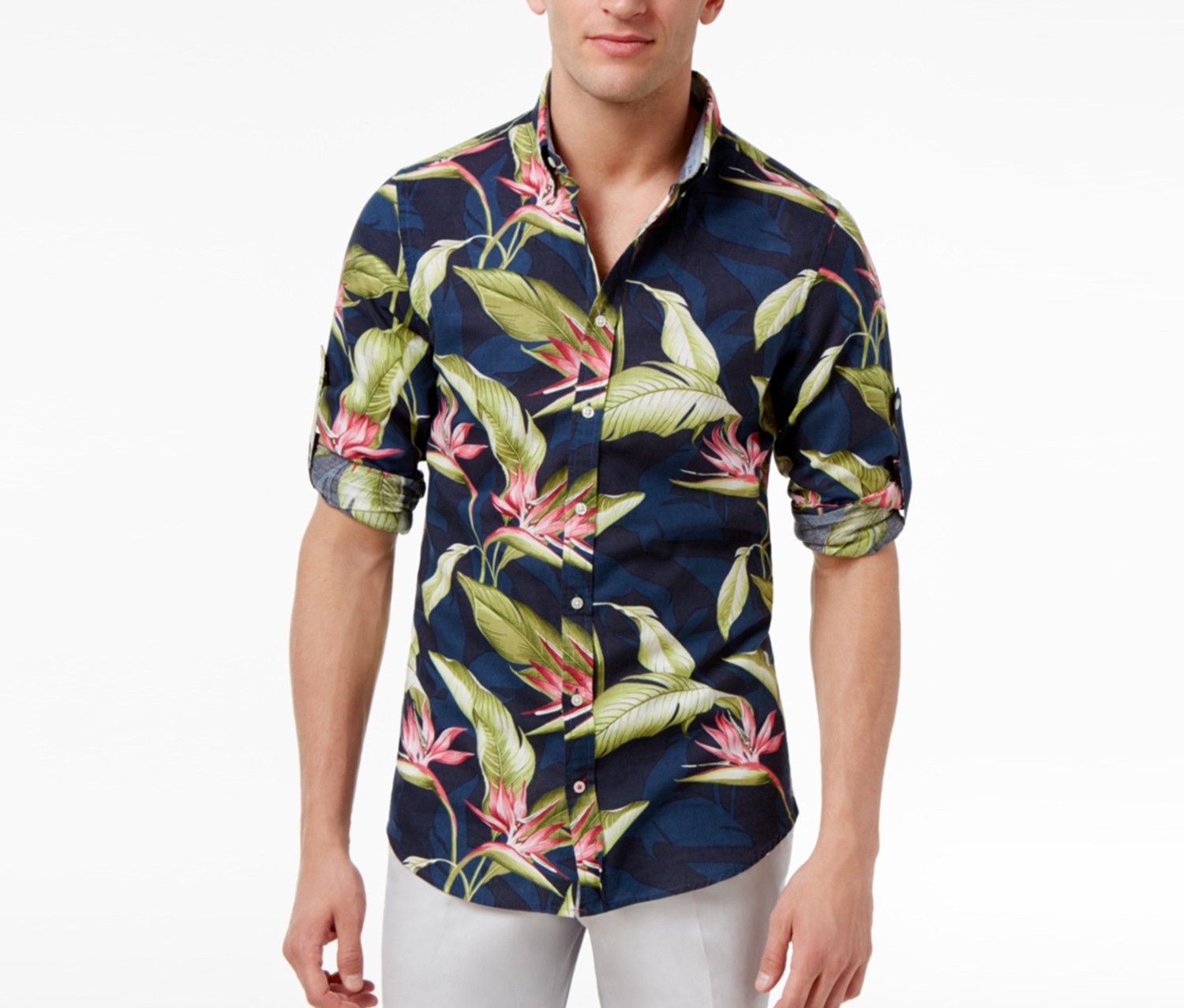 Shop Tommy Hilfiger Tommy Hilfiger Mens Paradise Flower Shirt Dutch