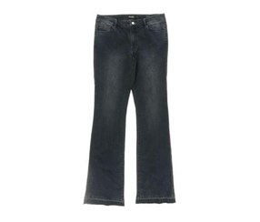 Nanette Lepore Faded Released Hem Bootcut Jeans, Blue Dark Wash
