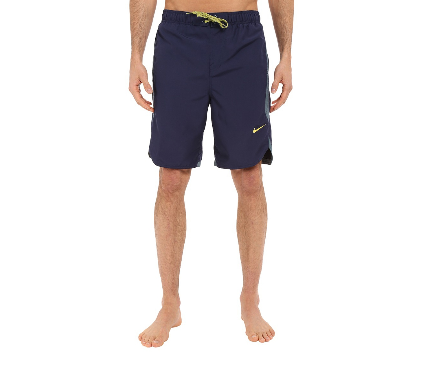 d5553ee980 Shop Nike Nike Solid Volley Swim Trunks, Midnight for Men Clothing ...