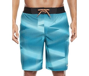 NIKE Mens Vapor Board/Swim Shorts, Chlorine Blue Gamma Orange