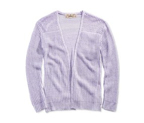Pink Republic Open-Front Cardigan, Purple
