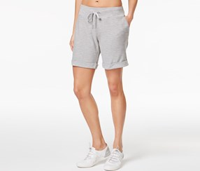 Calvin Klein Cuffed French Terry Shorts, Pearl Grey Heather