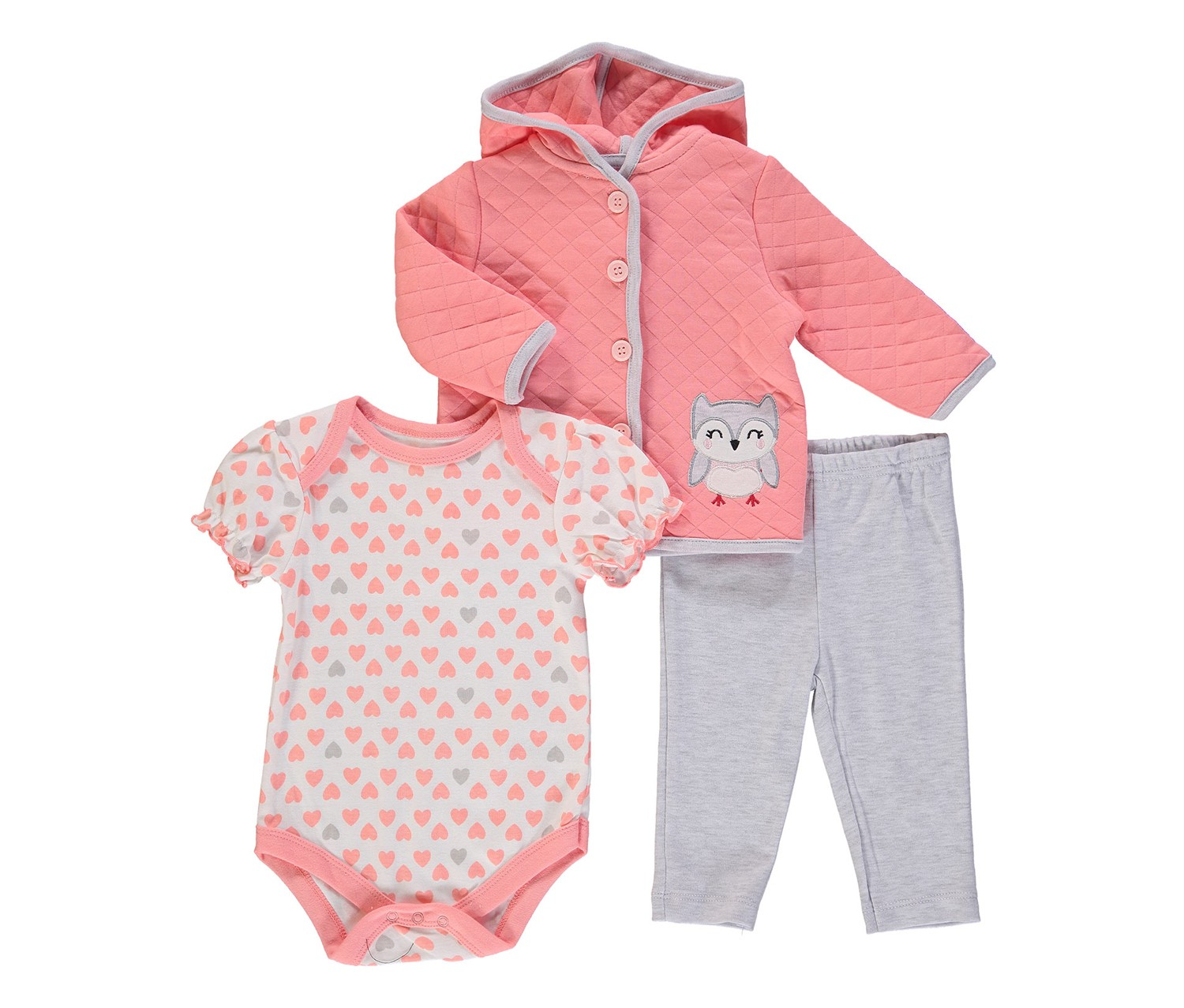 645ac02d3298 Shop Rene Rofe Baby Girls  3 Piece Jacket Set With Bodysuit And ...