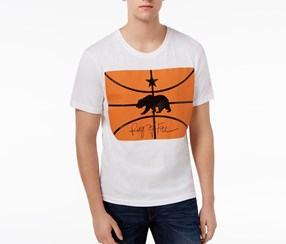 Ring of Fire Mens Graphic-Print Cotton T-Shirt, White