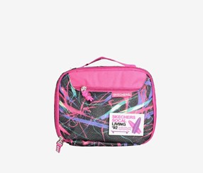 "Skechers ""Social Living"" Insulated Lunchbox, Pink/Black"