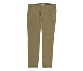 Mens Flat-Front Straight Leg Stretch Chino Pants, Olive
