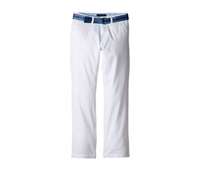 Tommy Hilfiger Boys' Dagger Belted Twill Pants, White