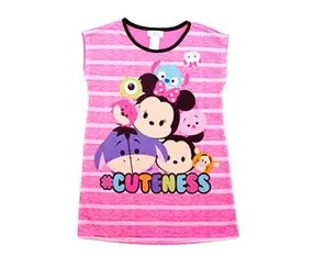 Disney Baby Girls Tsum Tsum Cuteness Nightgown, Pink