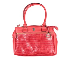 U.S. Polo Assn. Charles Triple Entry Satchel, Red