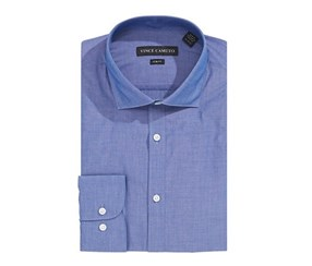 Vince Camuto Slim-Fit Chambray Solid Dress Shirt, Indigo