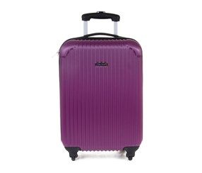 Tahari Lightweight Vertical Stripe 19'' Luggage, Purple